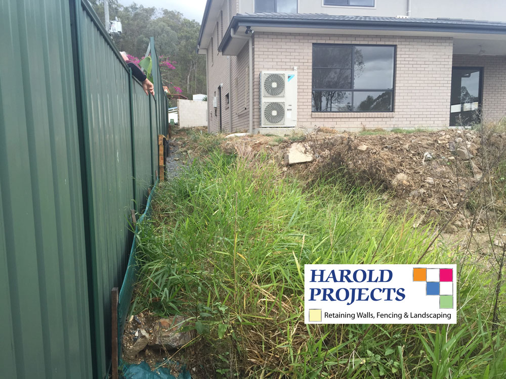 Colourbond Fence and Landscaping  - Harold Projects Bribane