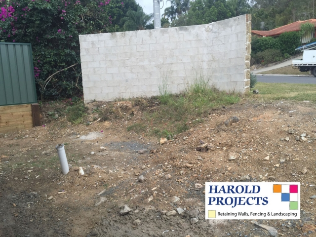 Before - Concrete Fencing-Landscaping-Harold Projects-Brisbane