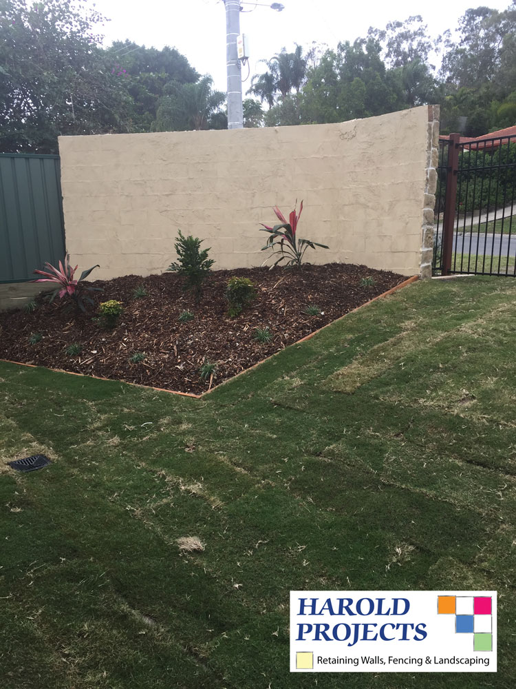After - Concrete Fencing-Landscaping-Harold Projects-Brisbane