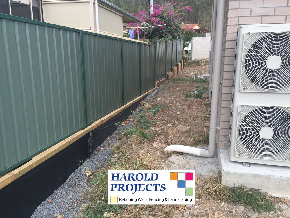 Before - Colourbond Fencing-Landscaping - Harold Projects