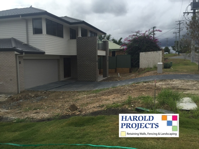 Before - Fencing-Landscaping - Harold Projects Brisbane