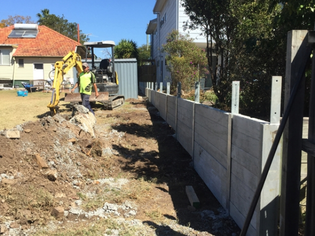 Building of Retaining Wall by Harold Projects, Mount Gravatt, Brisbane